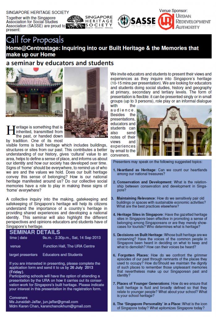 Talks - Singapore Heritage Society